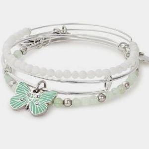 Alex and Ani Butterfly silver bangle bracelet